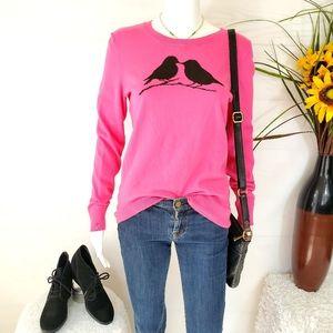 Loft adorable kissing turtledoves cotton sweater